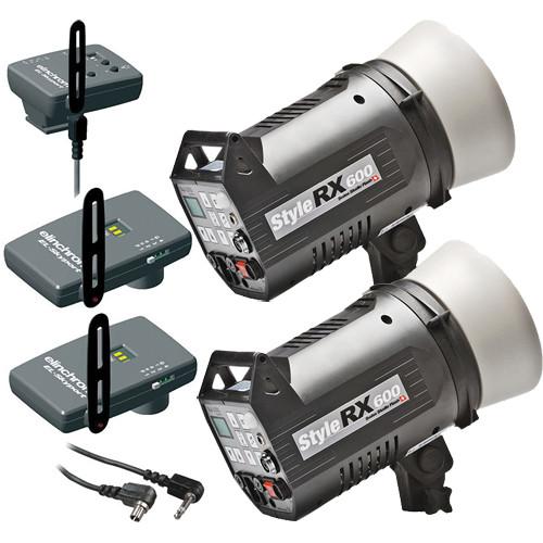 Elinchrom Digital Style Combo 600RX Two Monolight Kit with EL Skyport (120VAC)