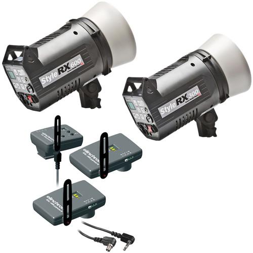 Elinchrom Digital Style Combo 300/600RX  Two Monolight Kit, Skyport  (120VAC)