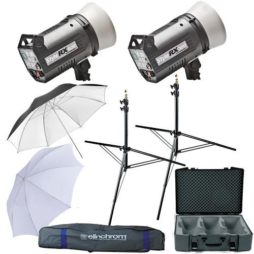 Elinchrom Digital Style 300/600RX Flash Two Monolight Kit (120VAC)