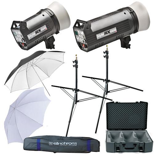 Elinchrom Digital Style 600/1200RX Flash Two Monolight Kit (120VAC)