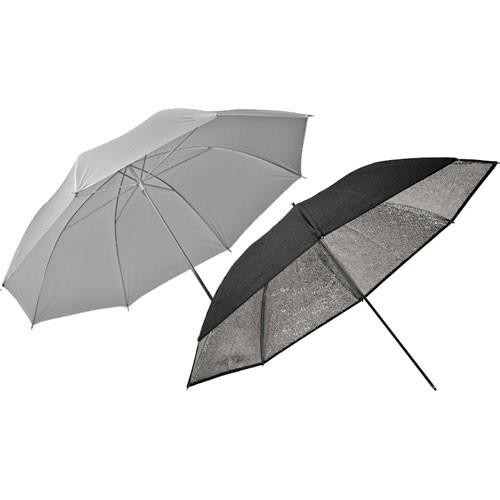 "Elinchrom Two Piece Umbrella Set - Translucent, Silver - 33"""