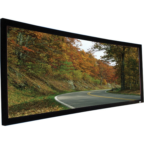 "Elite Screens CURVE120WH1 Lunette Curved Frame Home Theater Front Projection Screen (58.8 x 104.6"")"