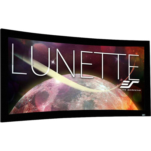 "Elite Screens CURVE235-85W Lunette Fixed Frame Projection Screen (33 x 77.6"")"