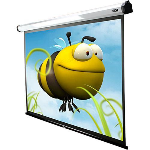 "Elite Screens HOME100IWH2-E24 Home Series 2 Motorized Front Projection Screen (49x87"", 110V, 60Hz)"