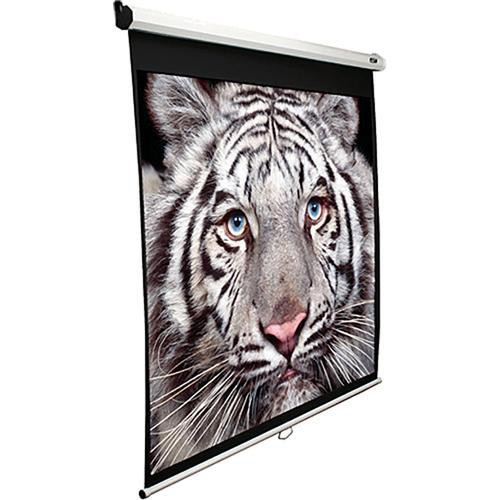 "Elite Screens M100XWH-E24 Manual Series Projection Screen With 24"" Drop (49.1 x 87.2"")"