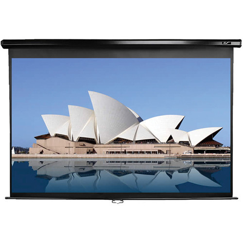 """Elite Screens M106UWH-E24 Manual Series Projection Screen With 24"""" Drop (52 x 92.4"""")"""