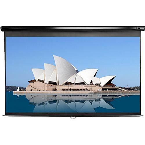 "Elite Screens M84UWH-E30 Manual Series Projection Screen With 30"" Drop (41 x 73"")"