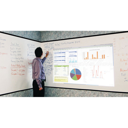 "Elite Screens Insta-DE Series 105"" (16:9) Dry Erase Whiteboard Screen"