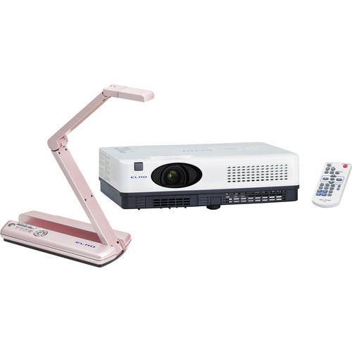 Elmo MO-1 Visual Presenter (Pink) and CRP-221 Projector Bundle
