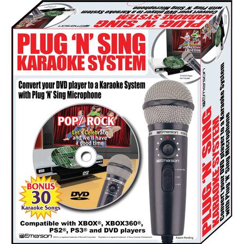 Emerson Karaoke MM205S Plug 'n' Sing Karaoke Microphone