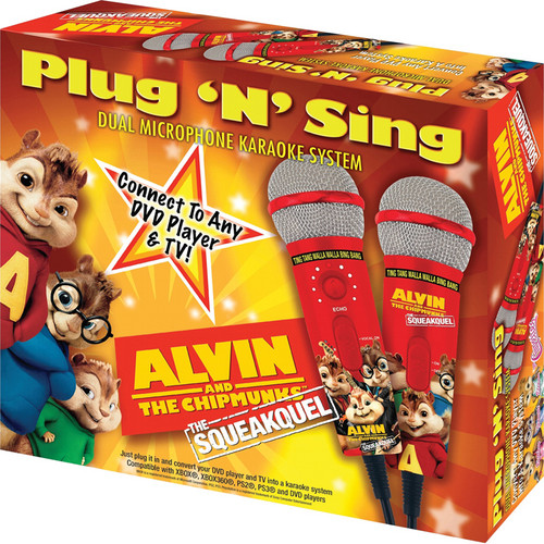 Emerson Karaoke Alvin & The Chipmunks Plug 'n' Sing Microphone (Includes 2 Microphones)