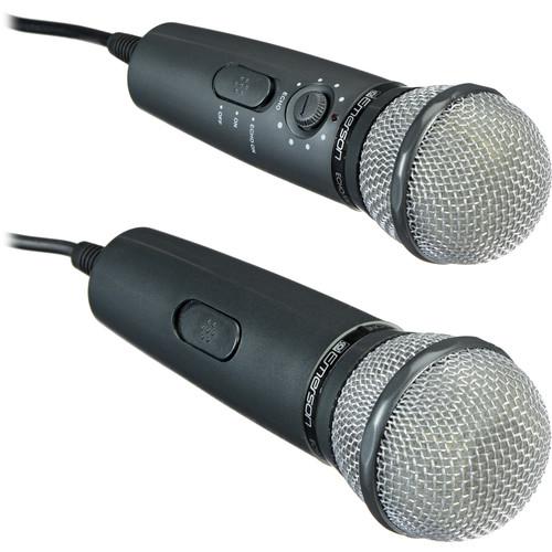 Emerson Karaoke Dual Plug 'n' Sing Handheld Karaoke Microphone