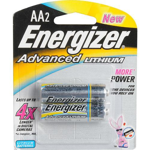 Energizer Advanced Lithium AA Batteries (2-Pack)