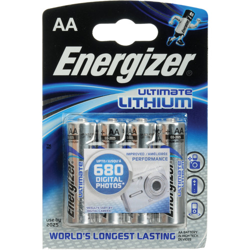Energizer Ultimate Lithium AA Batteries (4-Pack)