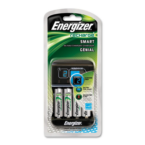 Energizer Recharge Smart Charger with 4 AA NiMH Batteries