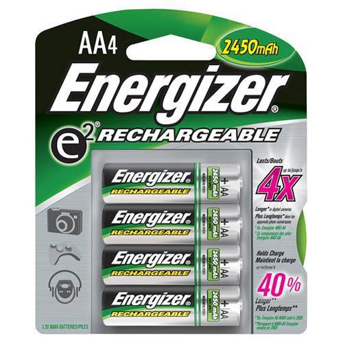 Energizer AA NiMH Batteries (2450maH) (4 Pack)