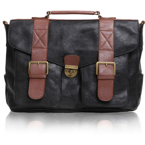Epiphanie Austin Satchel Bag (Black/Brown)