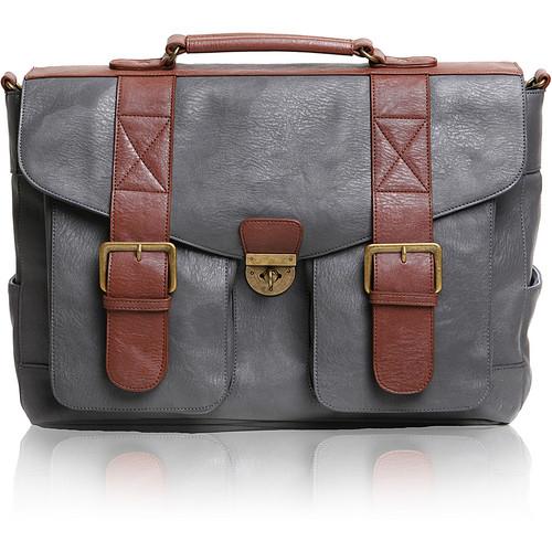 Epiphanie Austin Satchel Bag (Gray/Brown)