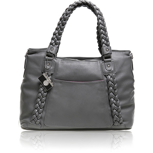 Epiphanie Clover Shoulder Bag (Gray with Gray Interior)