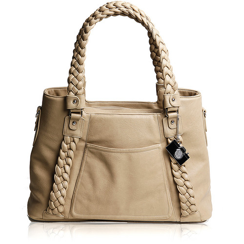 Epiphanie Clover Shoulder Bag (Camel with Beige Interior)