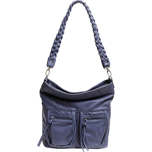 Epiphanie Lyric Shoulder Bag (Slate Blue)