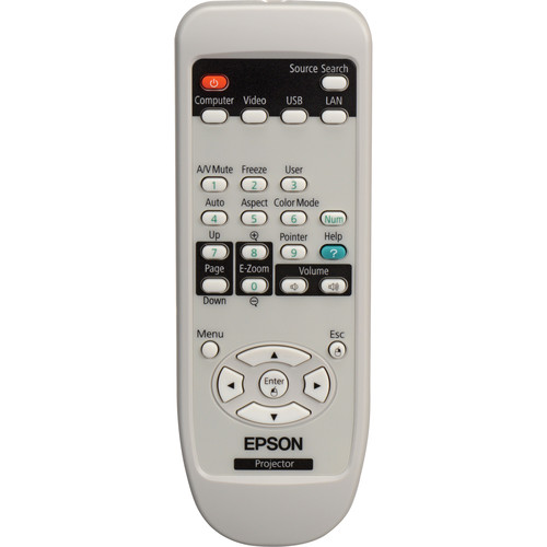 Epson 1519442 Remote Control For PowerLite 84, 85, 825