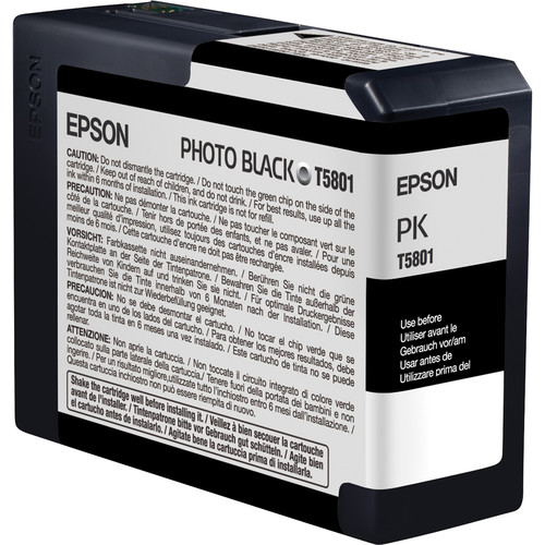 Epson Stylus Pro 3800 8-Cartridge Ink Set with Photo Black (80 ml)