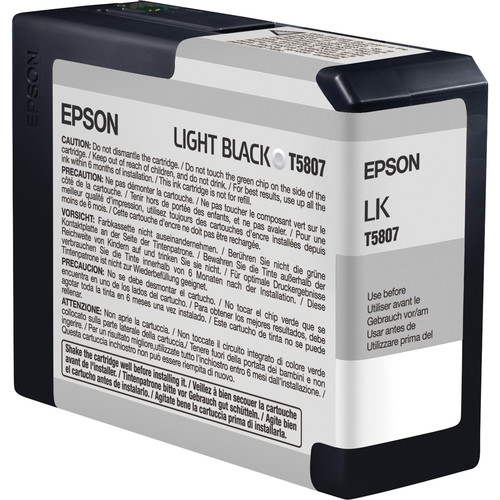 Epson UltraChrome K3 Ink 8-Cartridge Set with Matte Black (80 ml)