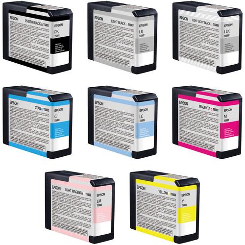 Epson Stylus Pro 3800 8-Cartridge Ink Set with Photo Black (80 ml)