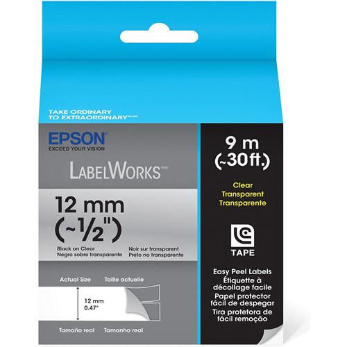 """Epson Black On White 1/2"""" Standard Tape (30')"""