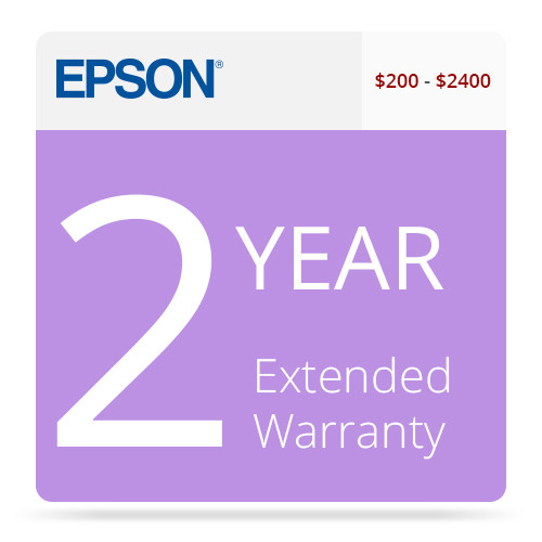 Epson 2-Year U.S. Extended Warranty for Inkjet Printers $200-$400