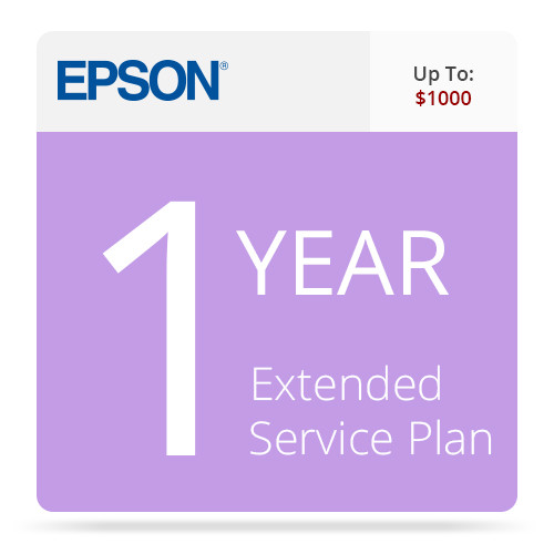 Epson 1-Year Extended Service Contract for Inkjet Printers up to $1000