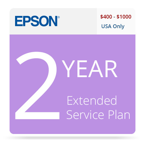 Epson 2-Year U.S. Extended Service Contract for Inkjet Printers $400-$1000