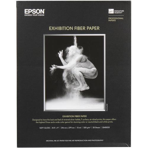 """Epson Exhibition Fiber Paper (8.5 x 11"""", 25 Sheets)"""