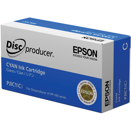 Epson PJIC1-C Cyan Ink Cartridge for the PP-100 Discproducer Auto Printer