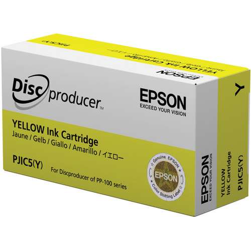 Epson PJIC5-Y Yellow Ink Cartridge for the PP-100 Discproducer Auto Printer