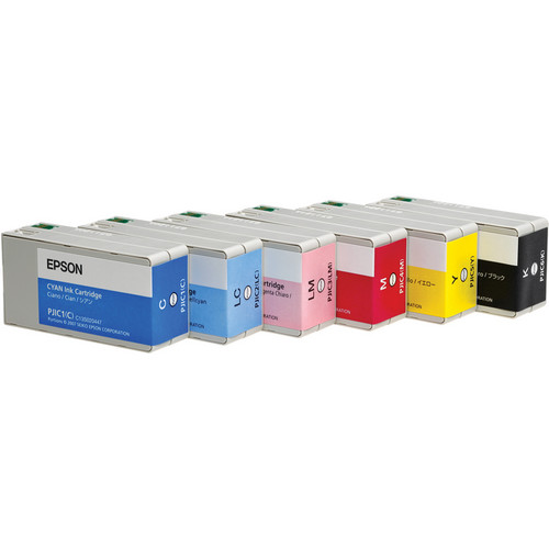 Epson PJIC-SET Set of 6 Color Ink Cartridges for the PP-100 Discproducer Auto Printer (Cyan, Light Cyan, Magenta, Light Magenta, Yellow and Black)