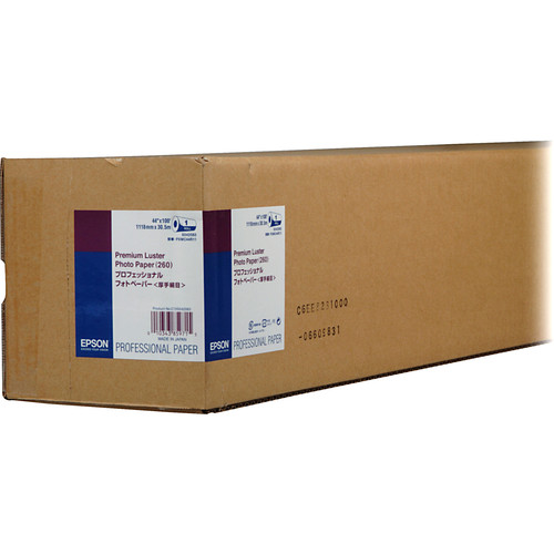 "Epson Premium Luster Photo Inkjet Paper (44"" x 100' Roll)"