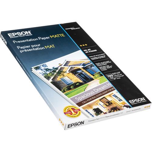 "Epson Presentation Paper Matte (8.5 x 14"", 100 Sheets)"