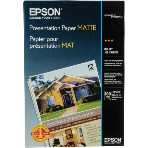 "Epson Presentation Paper Matte Archival Inkjet Paper (13 x 19"", 100 Sheets)"