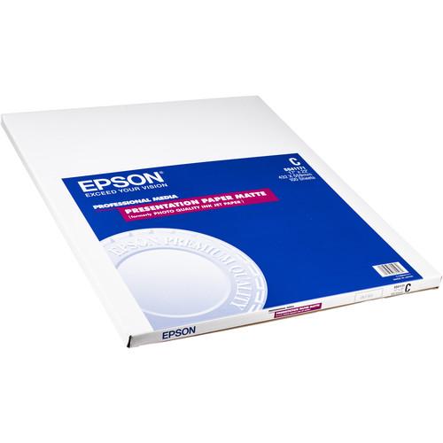 """Epson Presentation Paper Matte (A2 16.5 x 23.4"""", 30 Sheets)"""