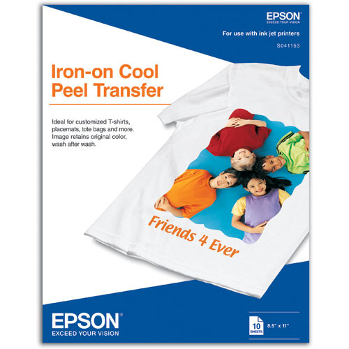 """Epson Iron-On Cool Peel Transfer Paper (8.5 x 11"""", 10 Sheets)"""