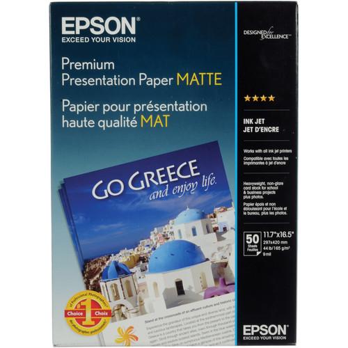 """Epson Matte Paper Heavyweight - 11.7x16.5"""" - 50 Sheets"""