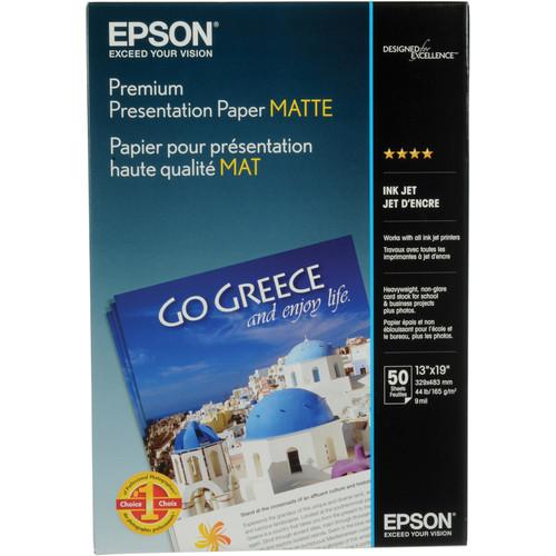 "Epson Premium Presentation Paper Matte (13 x 19"", 50 Sheets)"