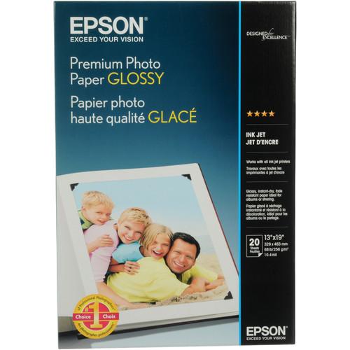 "Epson Premium Glossy Photo Paper 13x19"" - 20 Sheets"