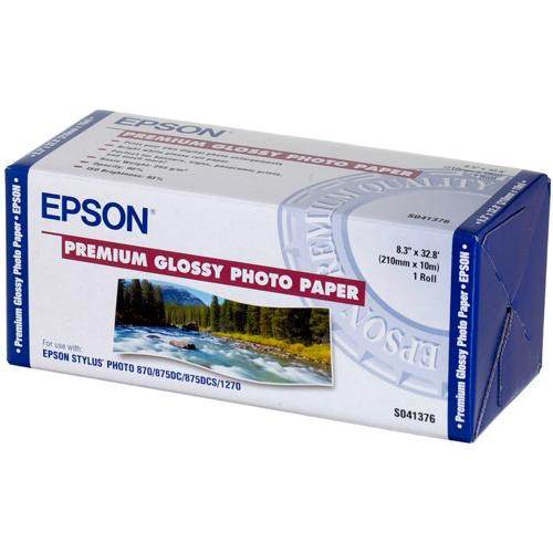 "Epson Premium Glossy Photo Paper - 8.3"" Wide Roll - 32.8' Long"