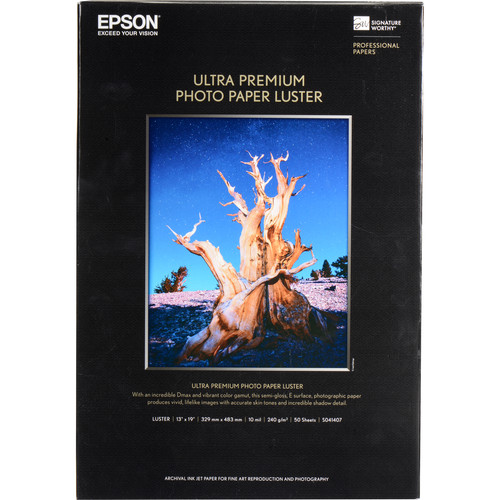 "Epson Ultra Premium Luster Photo Paper (13x19"", 50 Sheets)"