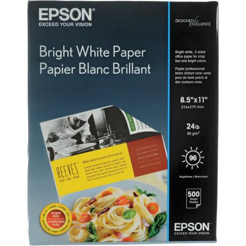 "Epson Bright White Paper (8.5 x 11"", 500 Sheets)"