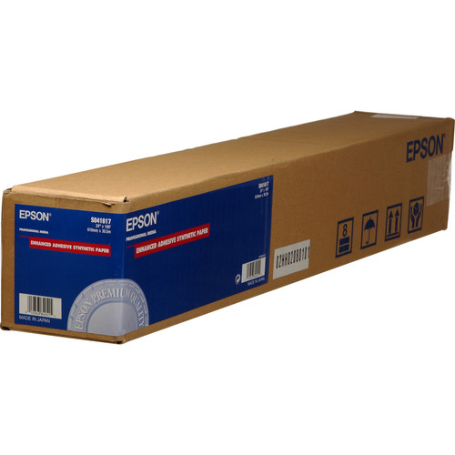 "Epson Enhanced Adhesive Synthetic Inkjet Paper (24"" x 100' Roll)"