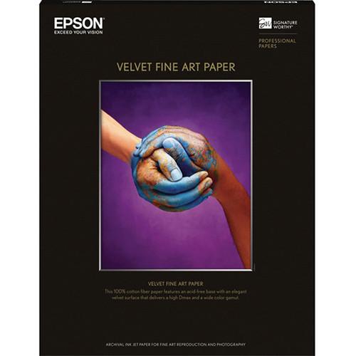 """Epson Velvet Fine Art Paper (13 x 19"""", 20 Sheets)"""